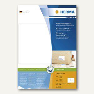Herma Adressetiketten PREMIUM, A5, 148.5 x 205 mm, weiß, 400Stück, 8690