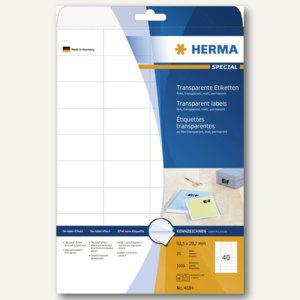 Herma Folien-Etiketten, 52.5 x 29.7 mm, transparent matt, 1.000 Stück, 4684 - Vorschau