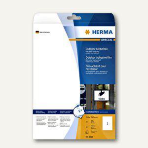 Herma Folien-Etiketten Outdoor, wetterfest, 210 x 297 mm, matt-weiß, 10 St., 9500
