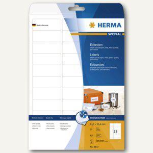 """Herma Etiketten """"Special"""", 63.5x25.4mm, 90 g/qm, Rand, weiß, 825 Stück, 8837 - Vorschau"""