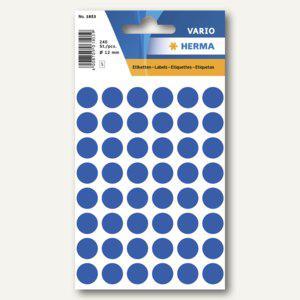 Herma Vielzweck-Etiketten, ø 12 mm, dunkelblau, 10 x 240 Stück, 1853 - Vorschau