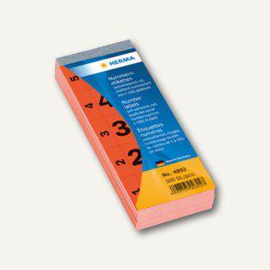 Herma Nummernblock 1-500 selbstklebend, 28 x 56 mm, rot, 4892 - Vorschau