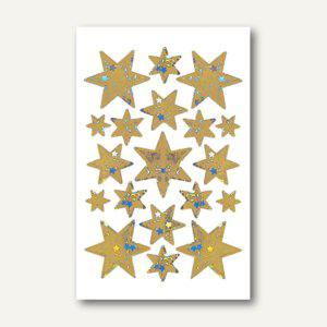 Herma Schmucketiketten, Sterne, Folie, gold, Holografie, 10x1 Bl., 3902 - Vorschau