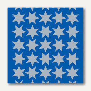 Herma Schmucketiketten, Sterne, Folie, silber, 16 mm, 10 x 3 Blatt, 4086 - Vorschau