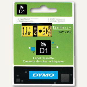 Dymo D1 Etikettenband, 12 mm x 7 m, schwarz auf gelb, S0720580 - Vorschau