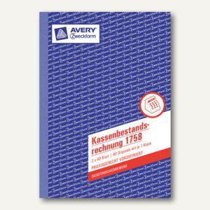 Zweckform Kassenbericht, A5, selbstdurchschreibend 2x40 Blatt, 1758 - Vorschau