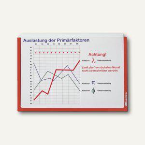 Ultradex Infotaschen DIN A4, quer, selbstklebend, rot, 5 Stück, 878905