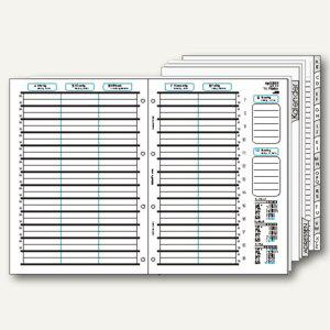 bind Kalendereinlage für DIN A4 Planer, 1 Woche=2 Seiten, A-Z Register, B-2400 - Vorschau