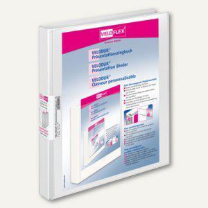 Präsentationsringbücher VELODUR, DIN A4, 4 Rund-Ringe Ø 15 mm, weiß, 15 Stück, 4 - Vorschau