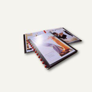 Durable Sichtbuch DURALOOK® Easy Plus A4, mit 20 Hüllen, schwarz, 2 St., 2427-01