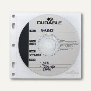 "Durable CD-Hülle ""CD/DVD COVER FILE"", transparent, 100 Stück, 5239-19"
