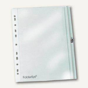 Zip-Hülle m. Abheftrand, 140 x 210mm, PVC, Gleitverschluss, transparent, 100 St.