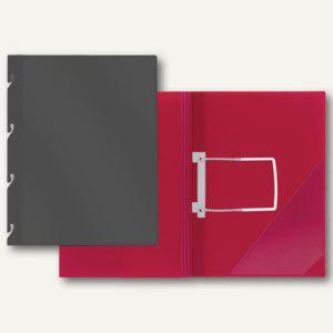 FolderSys Einhakhefter DIN A4, PP, Klarsichttasche, schwarz, 50 St., 1102730 - Vorschau