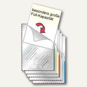FolderSys Sichthülle A4, oben+halb rechts offen, weiß, 100 Stück, 46279-10 - Vorschau