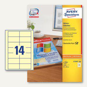 Adress-Etiketten für Pressesendungen, 85x40 mm, gelb, 4200 St., L7250-300
