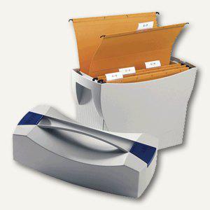 Hängemappenbox Swing-Plus DIN A4, PS, für 20 Mappen/3 Ordner, Deckel, lichtgrau,