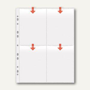 Veloflex Fotohüllen, DIN A4, für acht Fotos 10 x 15 cm hoch, 50 Stück, 5347300