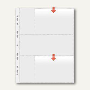 Veloflex Fotohüllen, DIN A4, für vier Fotos 10 x 15 cm quer, 50 Stück, 5347400