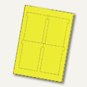 Ultradex T-Karten, bedruckbar, 92 x 120 mm Breitformat, hellgelb, 80 St., 543450 - Vorschau