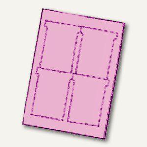 Ultradex T-Karten, bedruckbar, 92 x 120 mm Breitformat, rosa, 80 St., 543454 - Vorschau