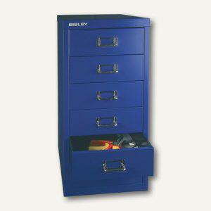 Bisley Basis Schubladenschrank DIN A4, 6 Schübe à 87 mm, oxfordblau, L296-639 - Vorschau