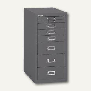 Bisley Schubladenschrank DIN A4, 8 versch. Schubgrößen, silber, L298-355 - Vorschau