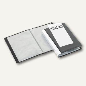 FolderSys Präsentations-Sichtbuch A5, 40 Hüllen, PP schwarz, 25 St., 2502630 - Vorschau