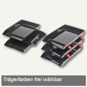 "FolderSys Briefkorb ""CRAZY TRAY"" A4, Polystrol schwarz, 3er Set, 9310530 - Vorschau"