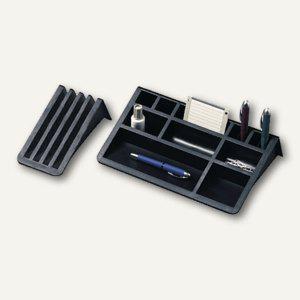 Helit Schreibtischbutler mit Kartenständer, rutschfest, schwarz, H62537.95 - Vorschau