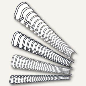 LEITZ Drahtbinderücken, DIN A4, 34 Ringe, Ø 12 mm, silber, 100 Stück, 27716 - Vorschau