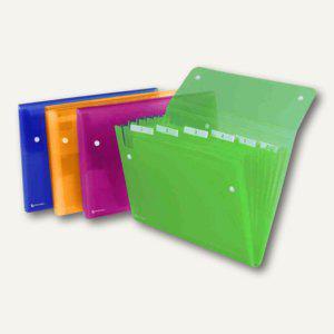 Rexel Fächermappe ICE, DIN A4, 6 Fächer, PP, farbig sortiert, 10 Stück, 2102032 - Vorschau