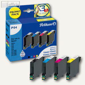 Pelikan P04 Tintenpatronen-Bundle Bk, C, M, Y für Epson Stylus C64, 353504 - Vorschau