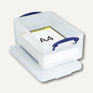 Aufbewahrungsbox 9 Liter, 395 x 255 x 155 mm, f. 40 CDs/20 DVDs, transp. - Vorschau