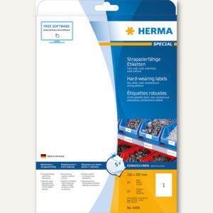 Herma Folien-Etiketten, wetterfest, 210 x 297 mm, Folie, weiß, 25 Stück, 4698 - Vorschau
