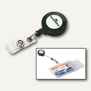 Durable Ausweishalter mit Aufrollmechanismus, anthrazit, 10 Stück, 8152-58 - Vorschau