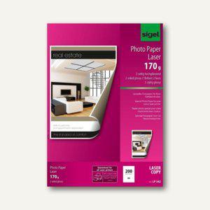 Sigel Fotopapier für Farb-Laser-Kopierer, DIN A4, glossy 170 g/m², 200Bl., LP342 - Vorschau