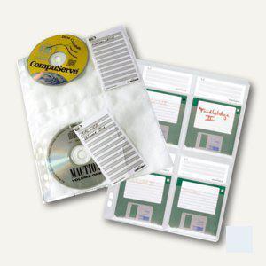 Durable CD-Hülle DIN A4, für 4 CDs/DVDs, transparent, 5 Stück, 5222-19