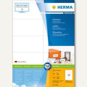 """Herma Etiketten """" Premium"""", 105 x 57 mm, weiß, 1.000 Stück, 4425 - Vorschau"""