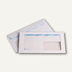 Kuvertierhüllen DIN C6/5 m. Panorama- & Adressfenster, haftkl., 100g/m² weiß, 50 - Vorschau