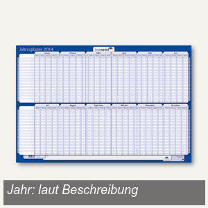 Jahresplaner, 60 x 90 cm, Jan.-Dez., folienkaschiert, bis 30 Personen/Projekte,, - Vorschau
