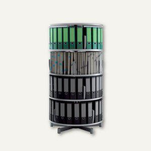 Ordnersäule Rotafile Mutifile (H)159 x (Ø)80 cm, 4 Etagen f. 96 Ordner, graphit - Vorschau