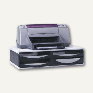 Fellowes Büromaschinen-Ständer, Kunststoff, 145x545x365, 4 Schubladen, 24004