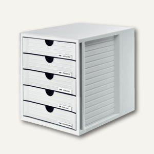 HAN Schubladenbox SYSTEMBOX, DIN C4, 5 geschlossene Schübe, lichtgrau, 1450-11 - Vorschau