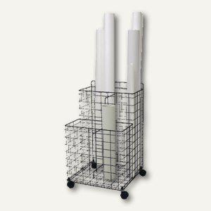 Rumold Cubo-Zeichnungs-Rollwagen, 4 Fächer, C-100-1 weiß, C-100-1 - Vorschau
