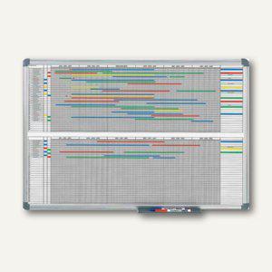 MAUL Jahresplaner, 2x6 Monate m. 365-Tage-Einteilung, 90x120 cm, grau, 6497584 - Vorschau
