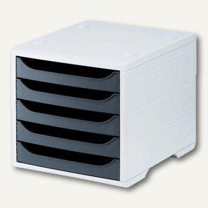 officio Bürobox mit 5 Schubladen, Auszugssperre, grau/anthrazit - Vorschau
