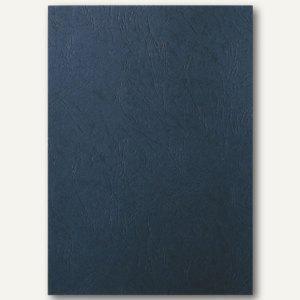 LEITZ Deckblatt, DIN A4, ledergenarbter Karton 240 g/qm, schwarz, 100 Stück, 33666