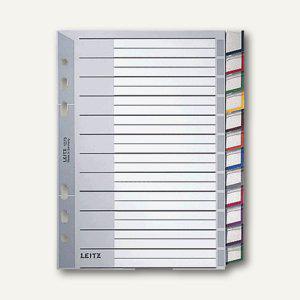 Kunststoff-Register DIN A5, 12-tlg., grau, wechselb. Einsteckschilder,, 1275-00 - Vorschau