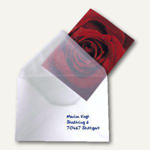 Sigel Briefumschlag C6, 114x162mm, nassklebend 100 g/m², transp., 25 St., DU030 - Vorschau