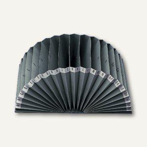 Elba Vorordner DIN A4, 20 Fächer A-Z im Halbkreis ausfaltbar, schwarz, 400001029